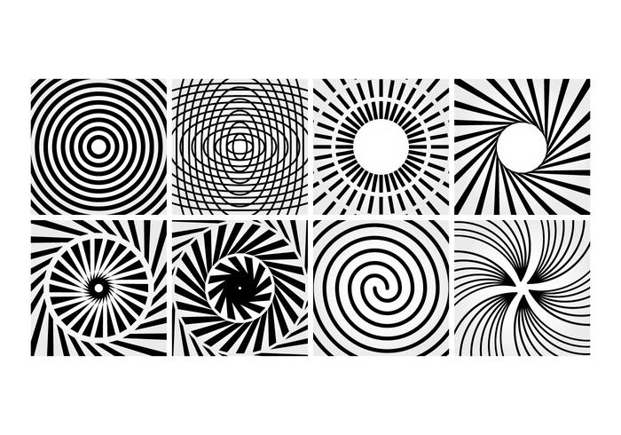 Vettore a linee a spirale
