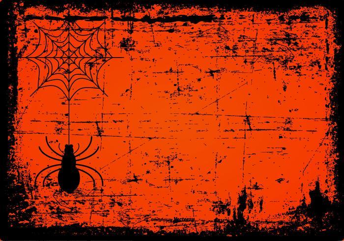 Grunge Spooky Halloween Background vettore