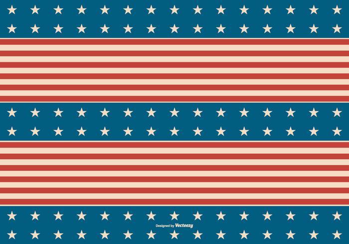 Retro sfondo patriottico americano vettore