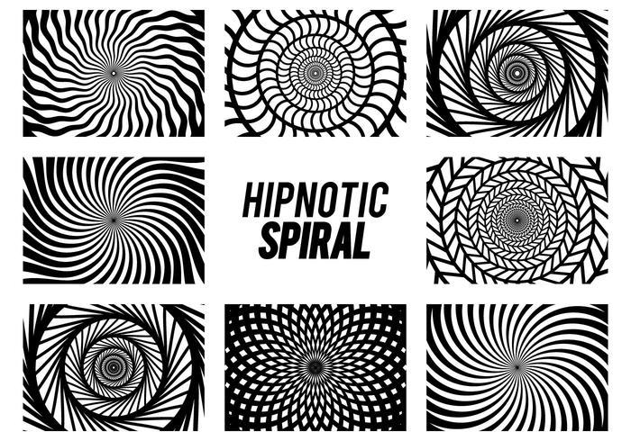 Set di spirale di ipnosi vettore