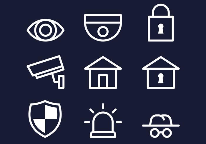 Icona della vigilanza di quartiere vettore