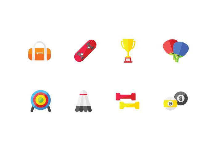 Sport e icone set atletico vettore