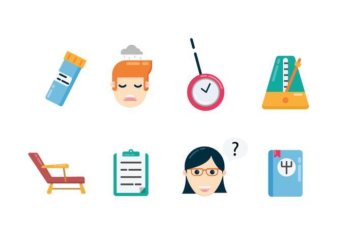 Icone di psicologia clinica vettore