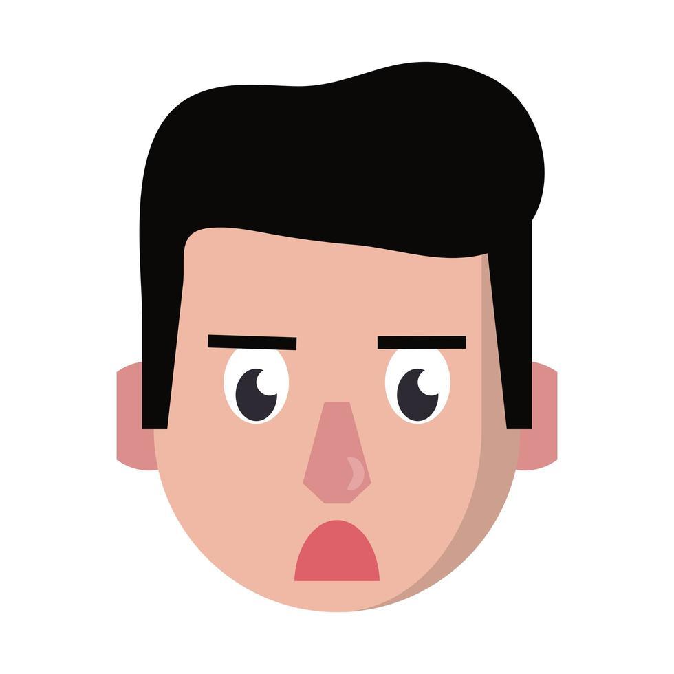 uomo faccia testa personaggio dei cartoni animati vettore