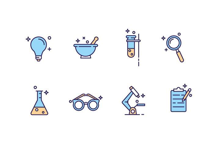Icone del laboratorio di scienza vettore