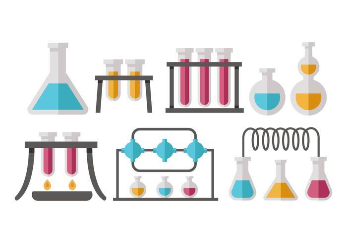 Beaker Flask Icons Vector