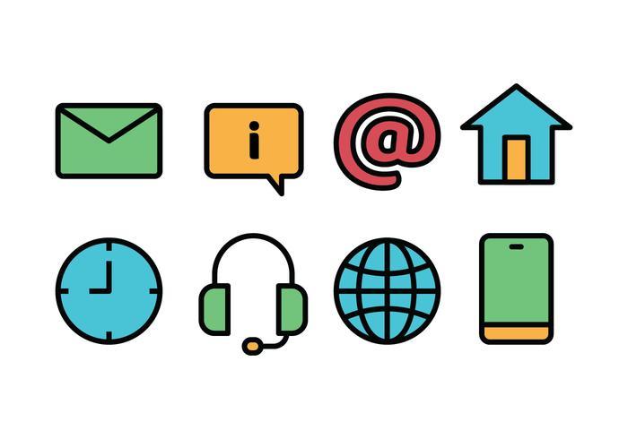 Set di icone Web vettore