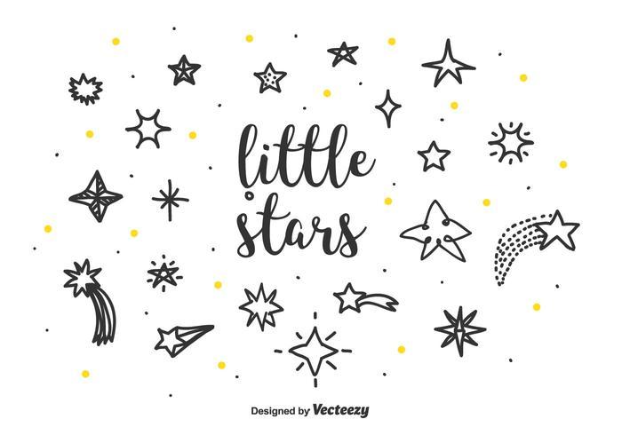 set vettoriale di piccole stelle