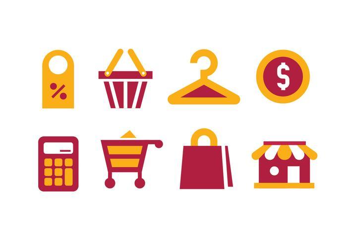 Shopping icone vettoriali