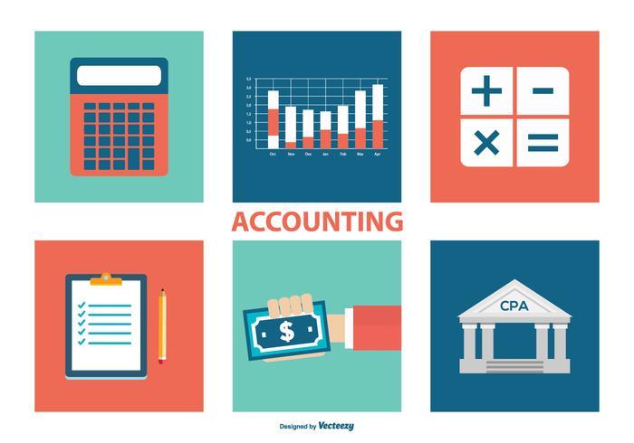 Collezione di icone di contabilità vettore