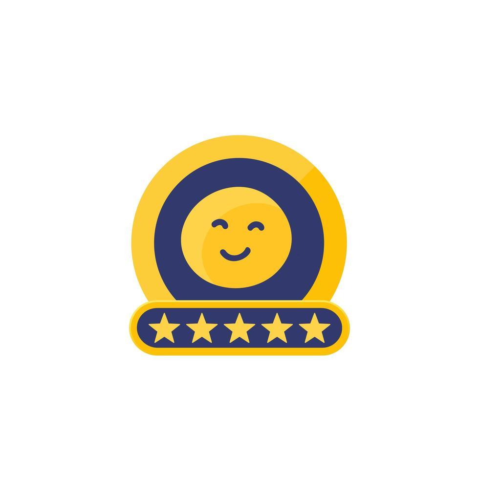 recensione del cliente o icona di alta valutazione vettore
