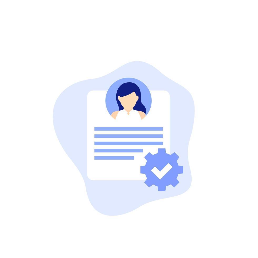 gestione delle risorse umane, icona delle risorse umane vettore