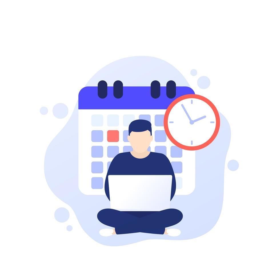 scadenza sul lavoro, produttività e gestione del tempo vettore