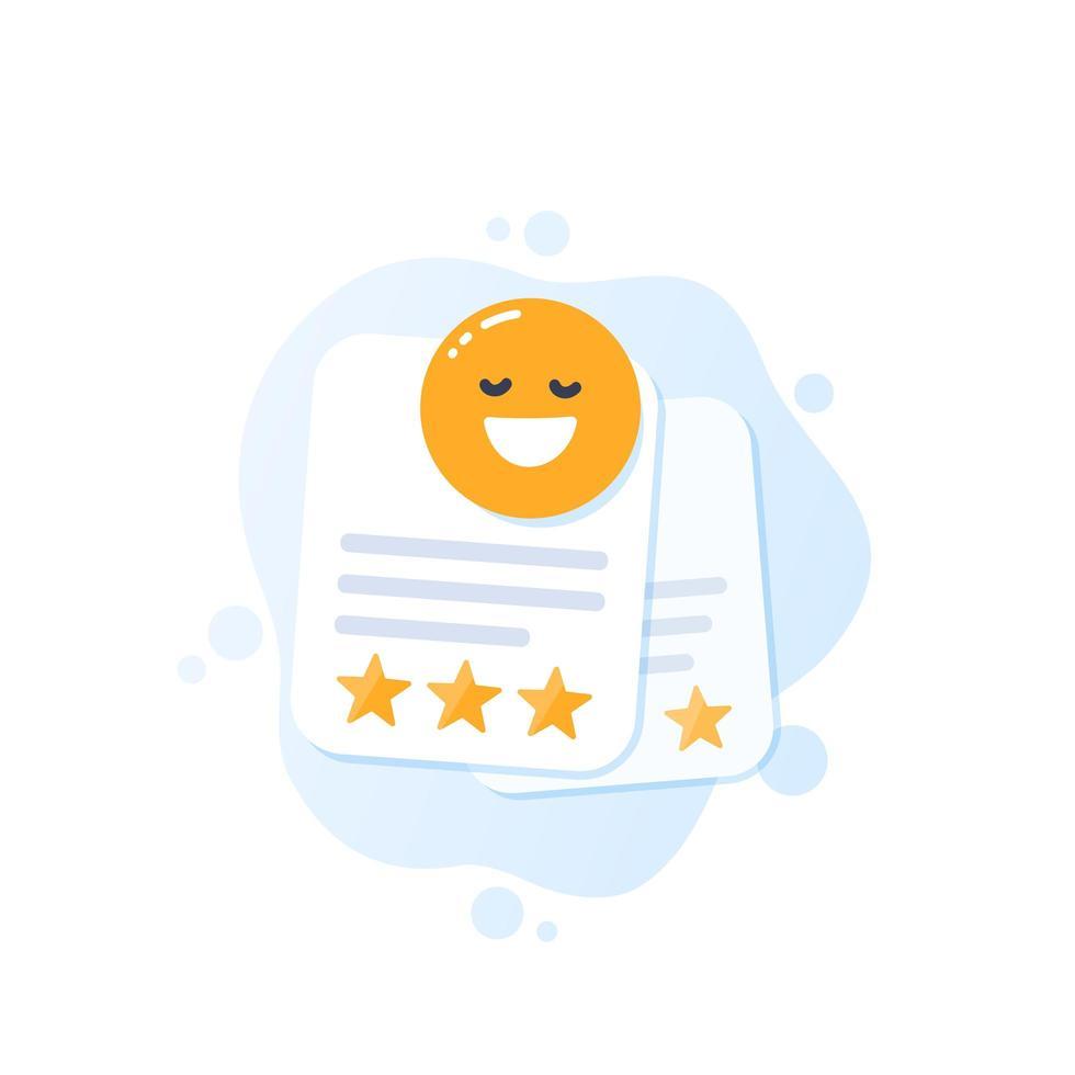 buone recensioni, icona di feedback positivo vettore