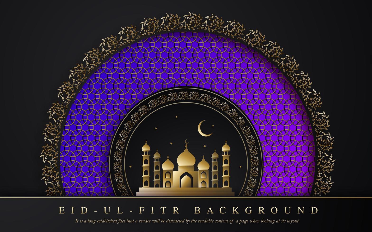 royal ramadan eid ul fitr design vettore
