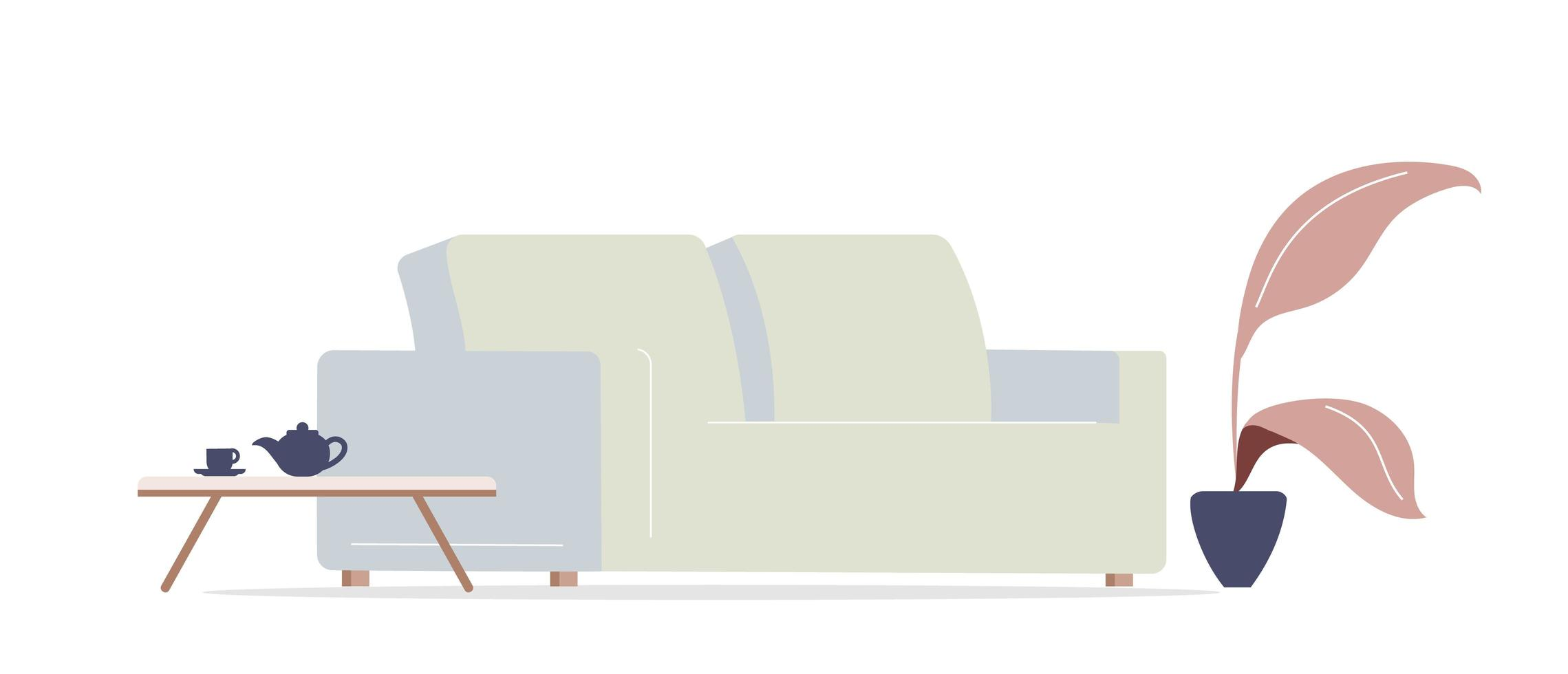 divano del soggiorno vettore