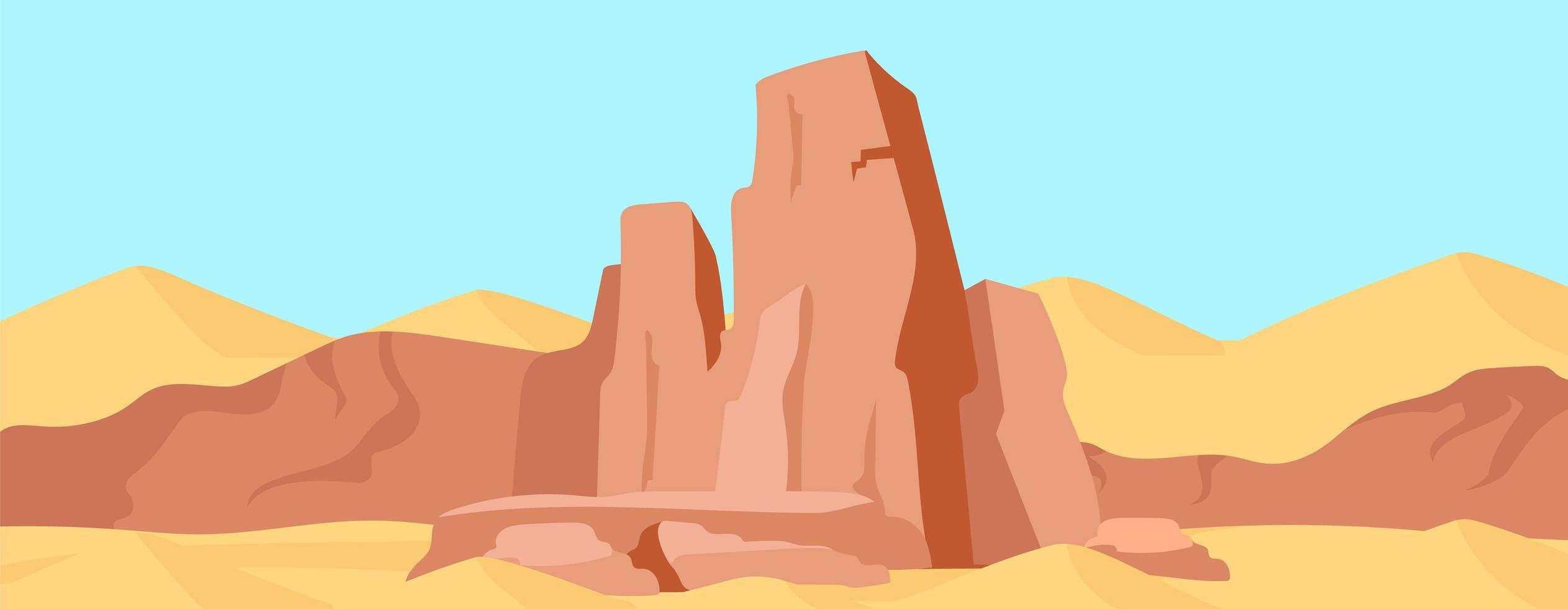 scena di roccia del canyon vettore