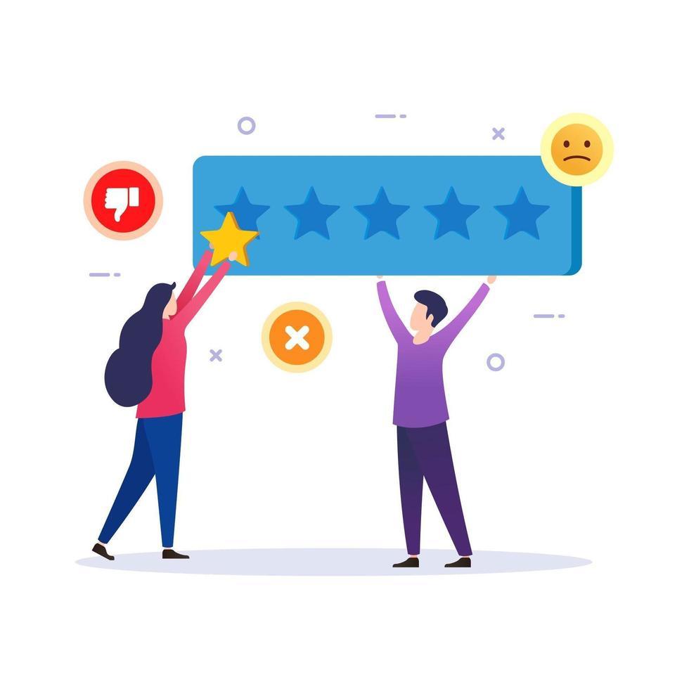 feedback e revisione del design per la soddisfazione del cliente vettore