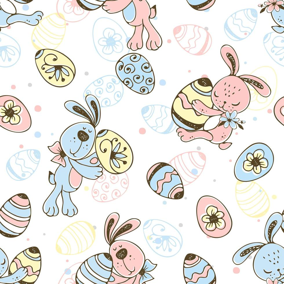 seamless pattern di uova di Pasqua vettore
