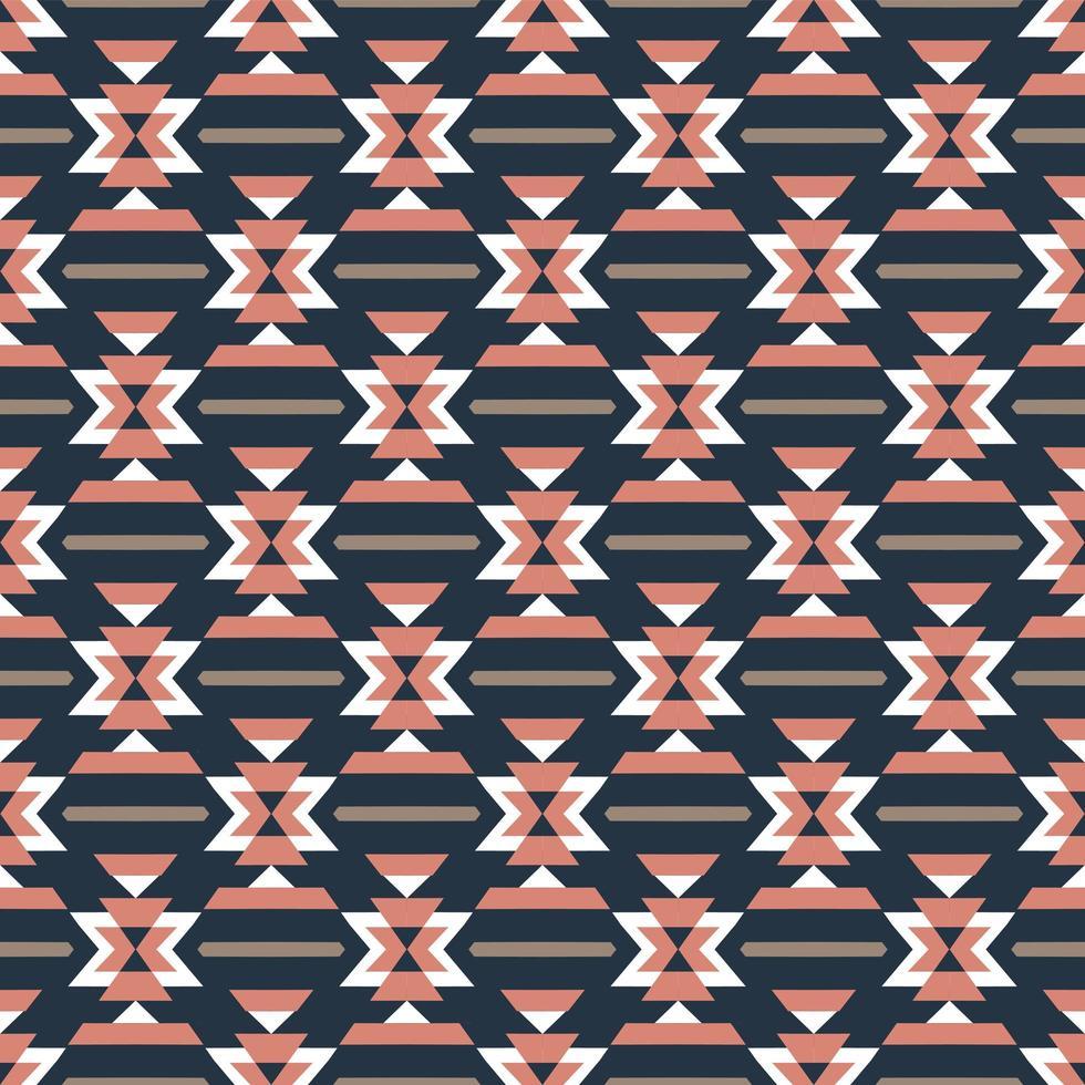 modello senza cuciture colorato azteco vettore