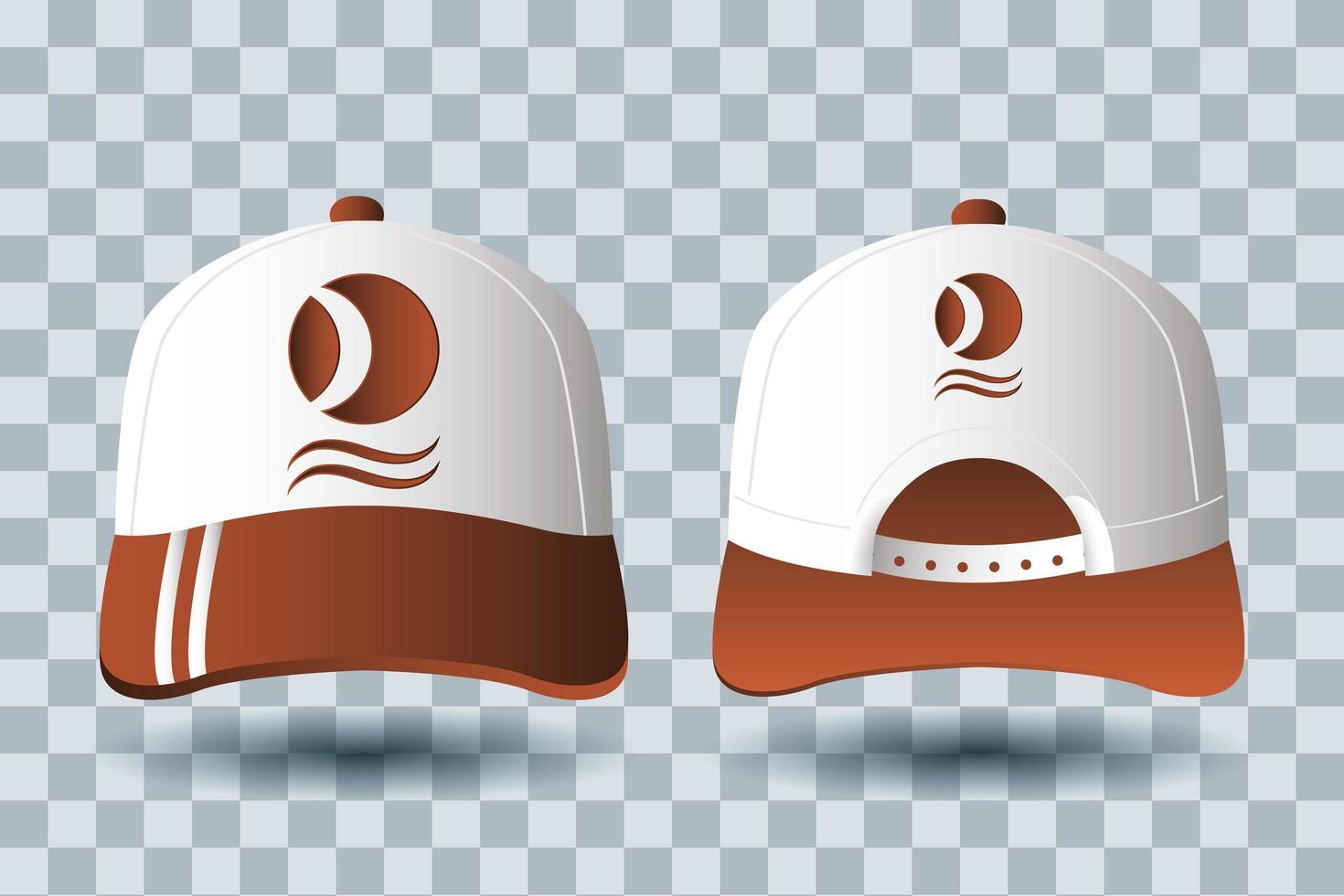 set di mock-up per branding di accessori per cappelli vettore