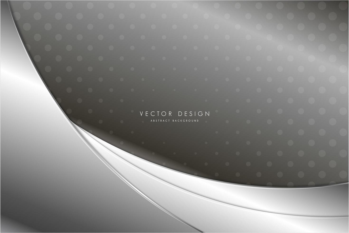 pannelli curvi argento metallizzato con motivo punteggiato vettore