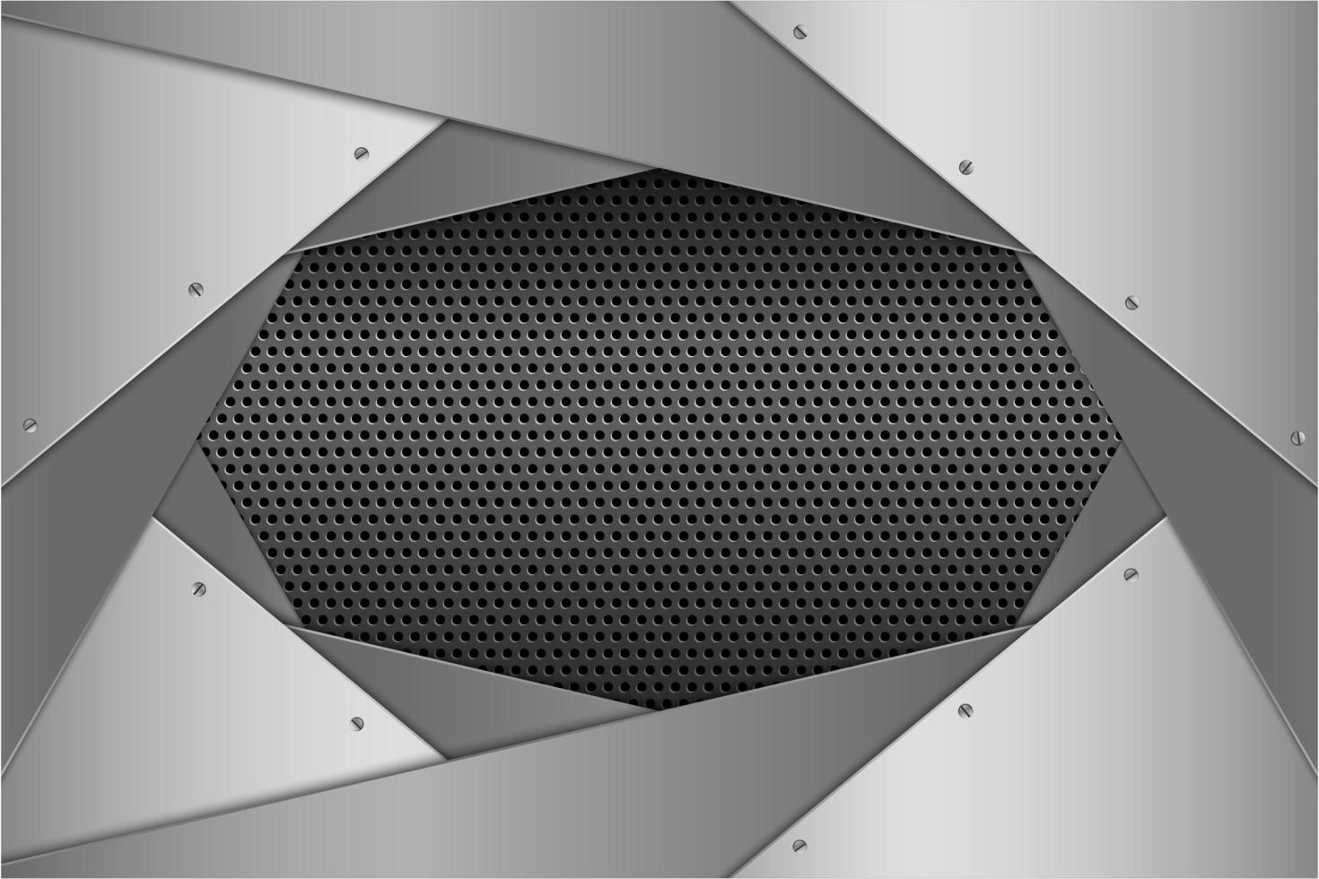 pannelli angolati stratificati argento metallizzato con trama perforata vettore