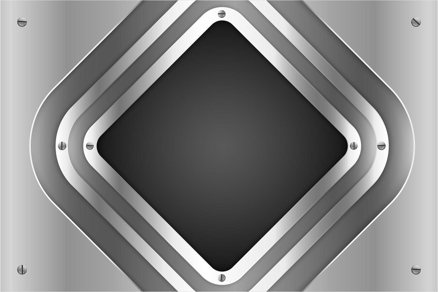 pannelli diamantati argento metallizzato con viti vettore