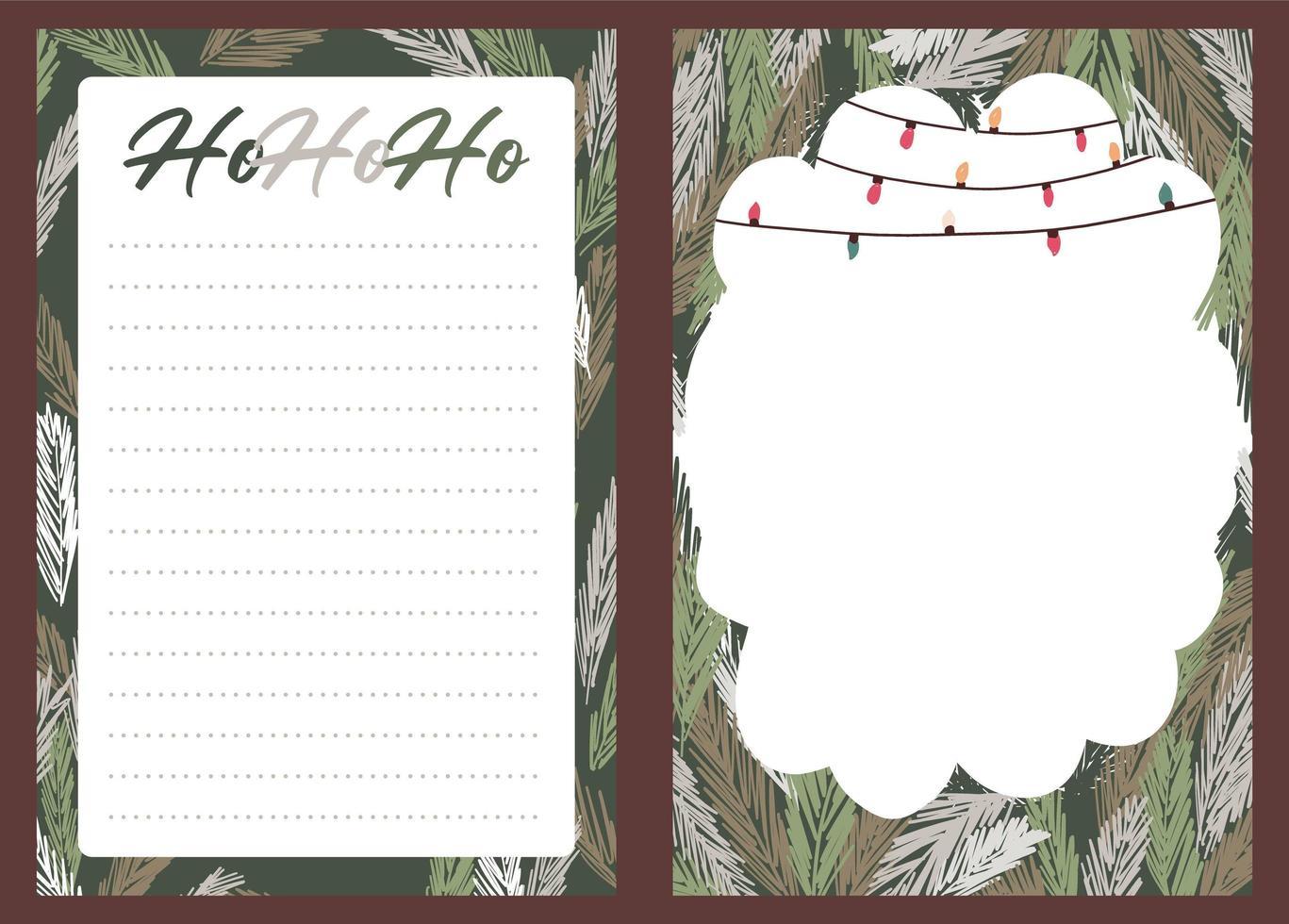 adesivo natalizio, diario, set di note vettore