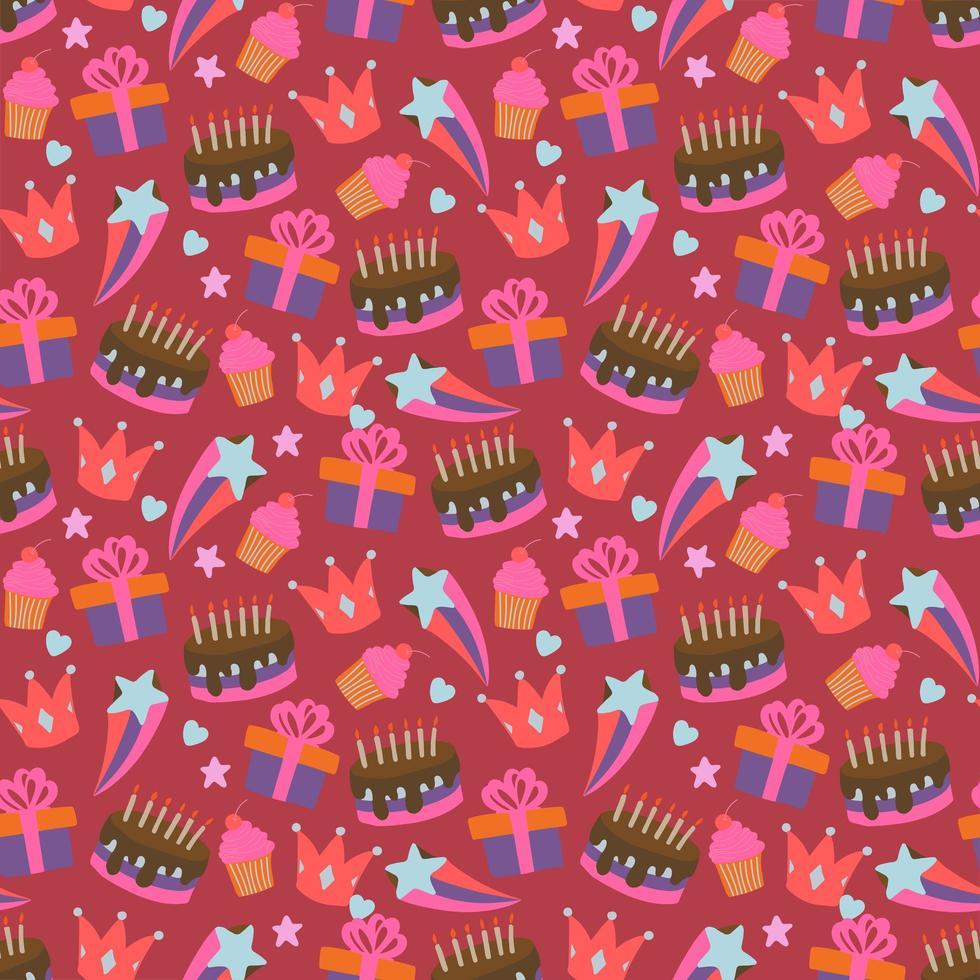 buon compleanno seamless pattern vettore