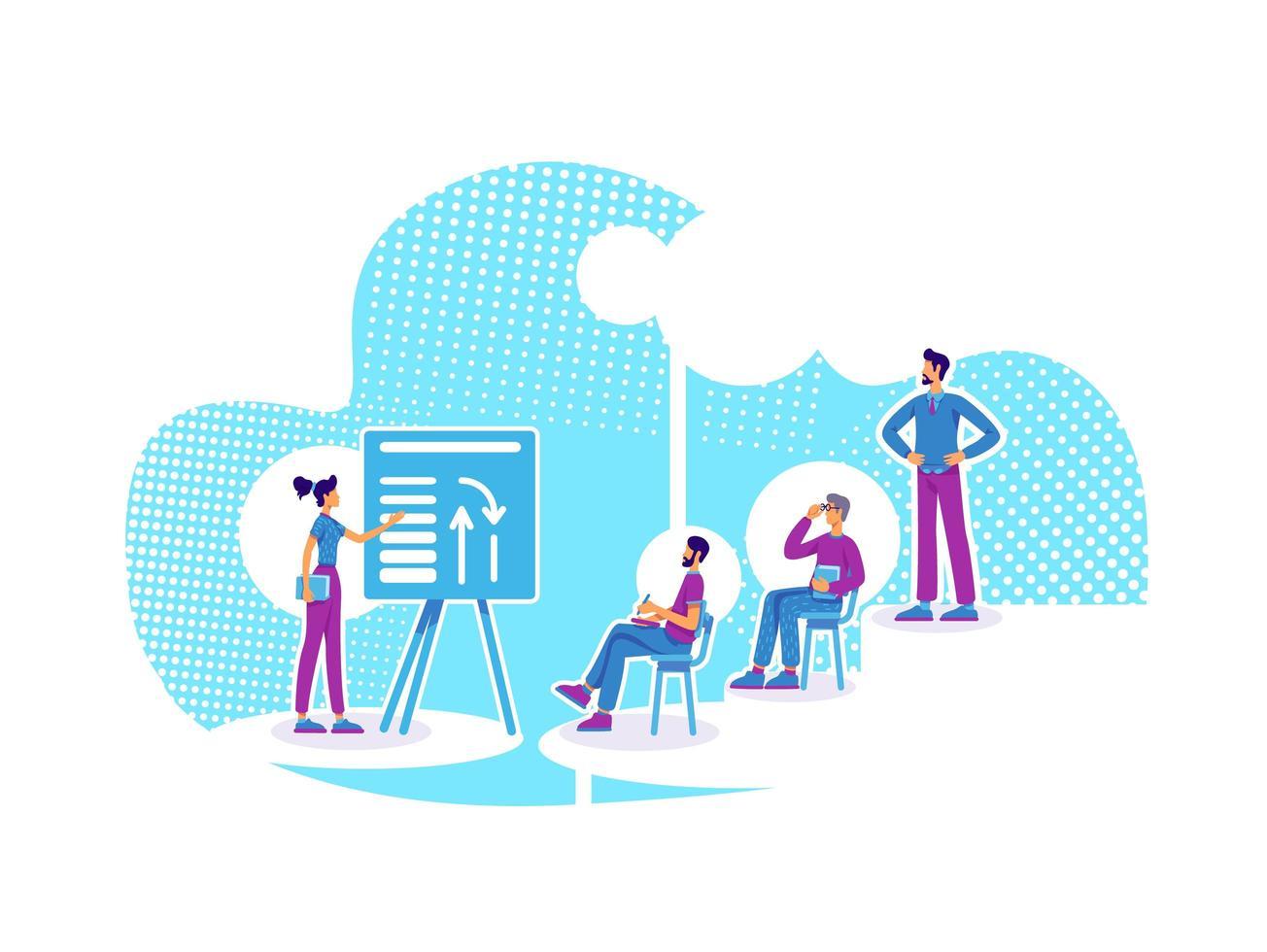 gruppo di coaching aziendale vettore