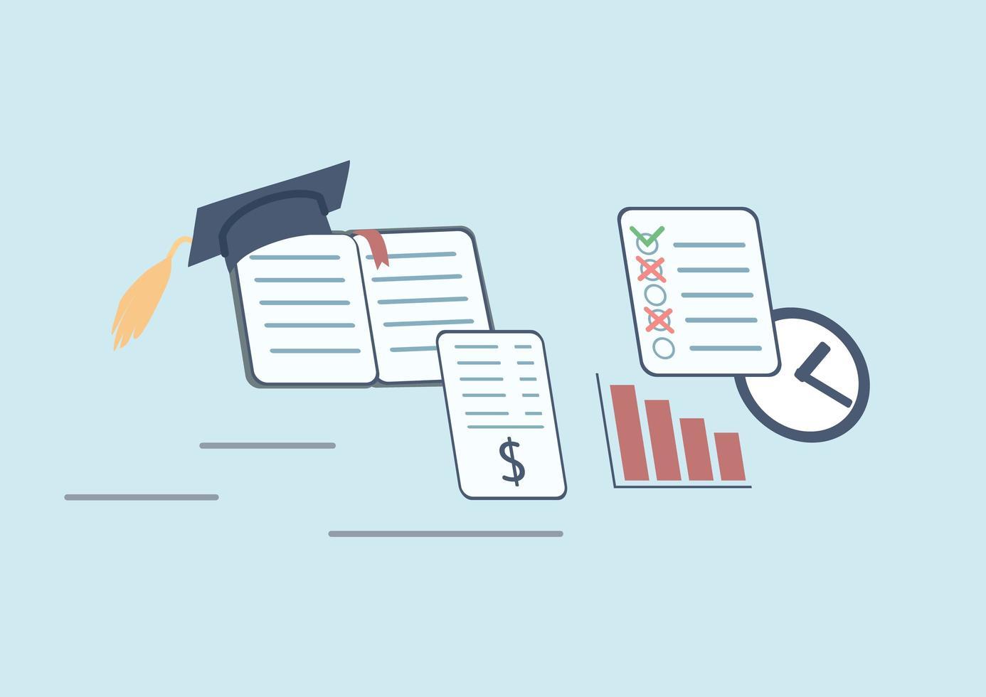 stress da prestiti agli studenti vettore