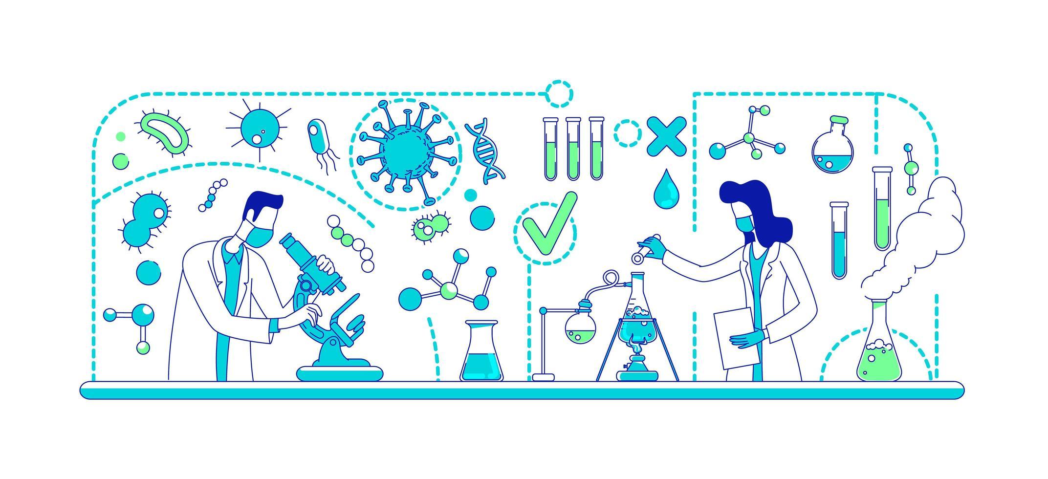 laboratorio di esperimenti medici vettore