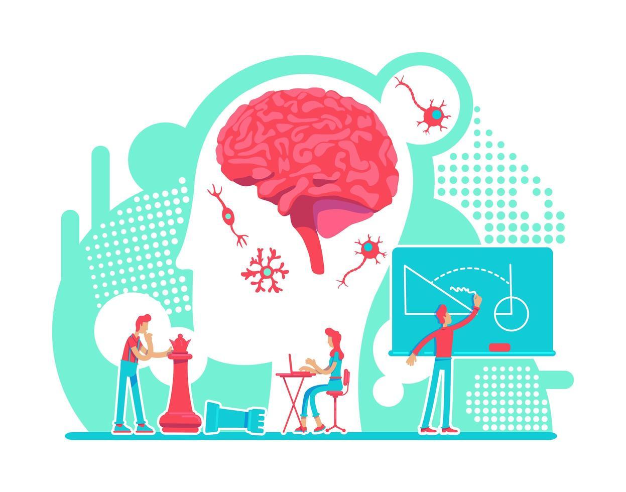 laboratorio di intelligenza neurologica vettore