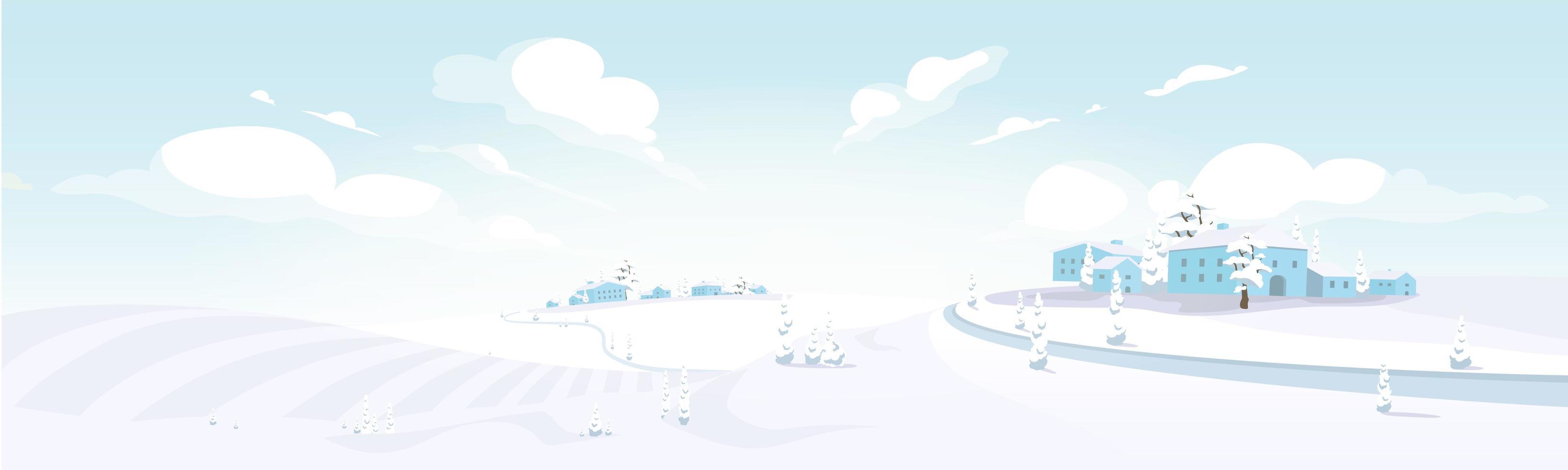 inverno in toscana vettore