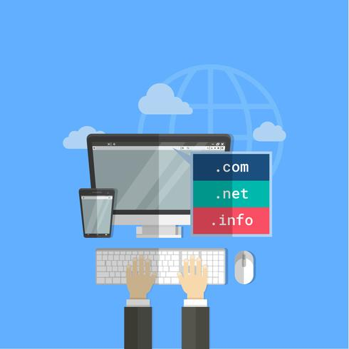 Domain With PC Vector Element Illustration