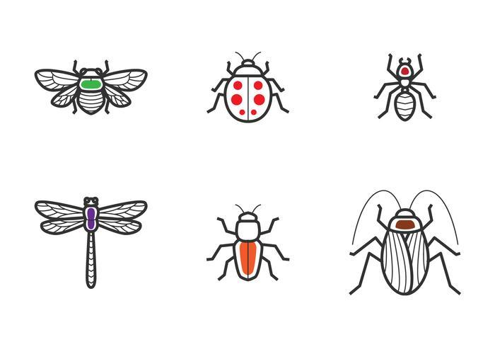 Icona contorno insetto vettore