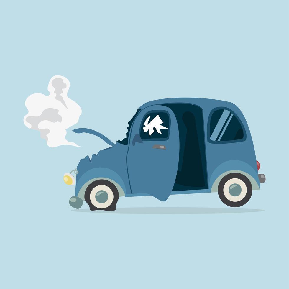 vettore di mini incidente d'auto