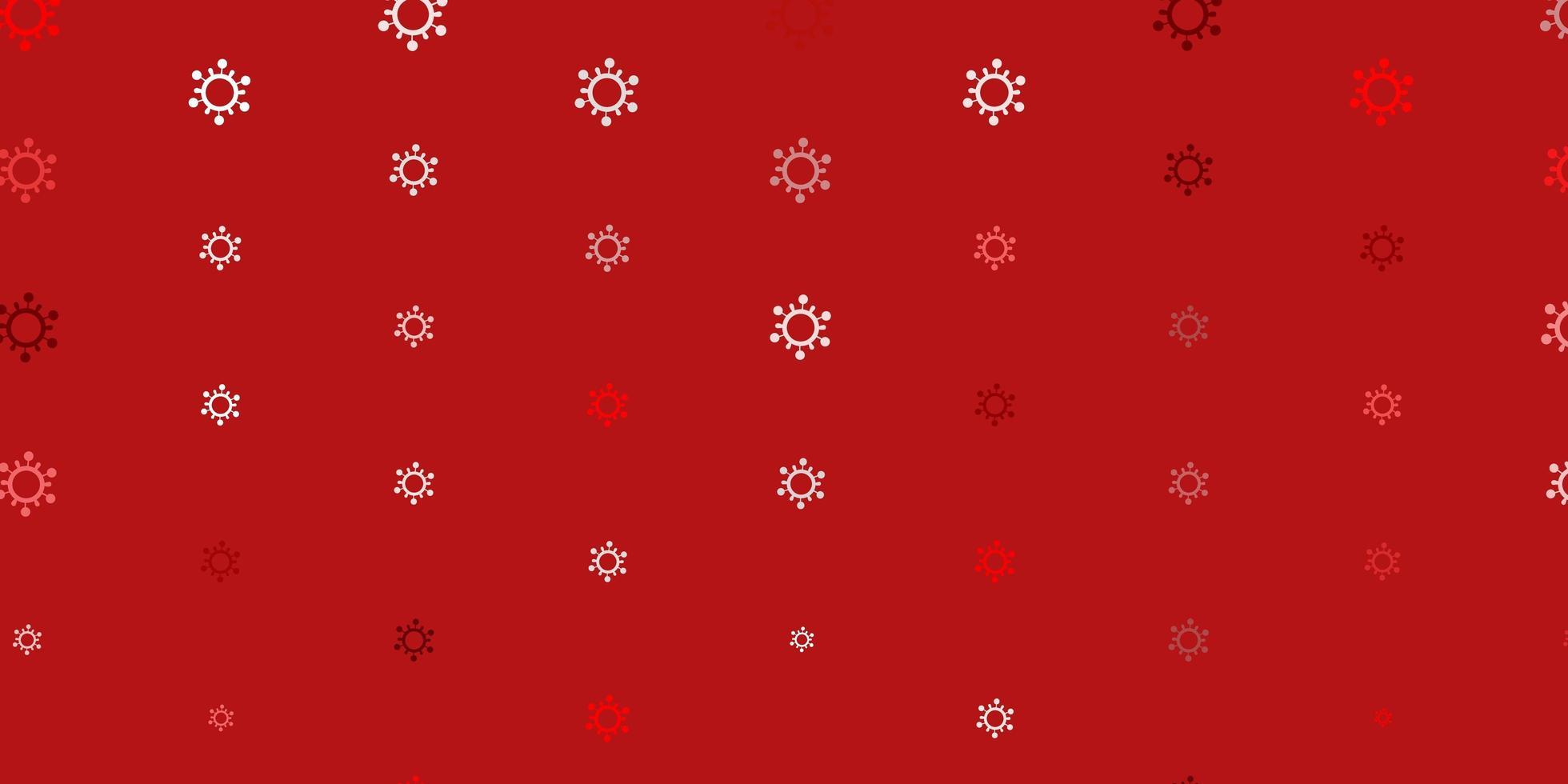 trama rosso chiaro con simboli di malattia. vettore