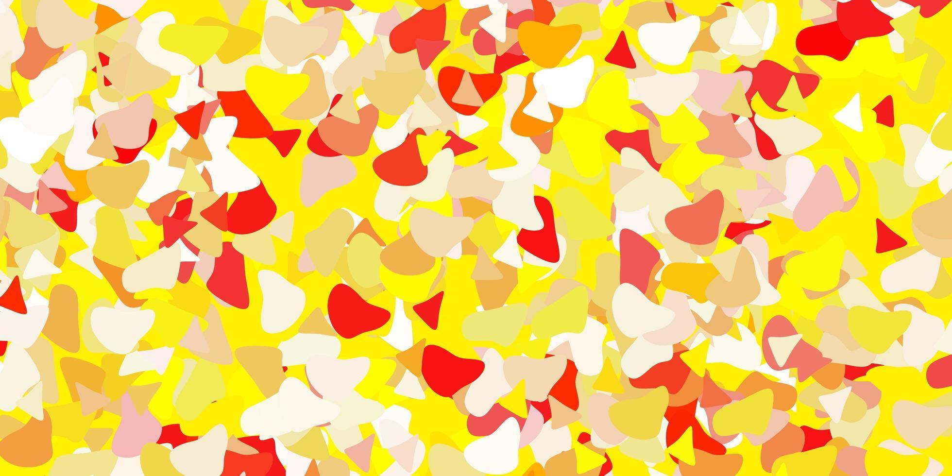 rosso chiaro, sfondo giallo con forme casuali. vettore