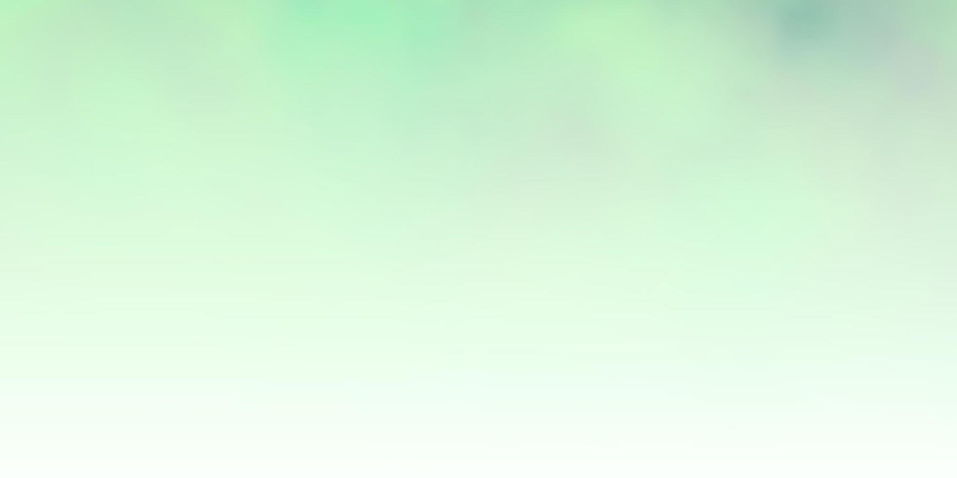 modello verde chiaro con nuvole. vettore