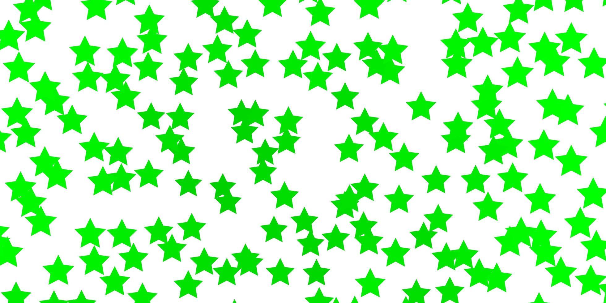 sfondo verde chiaro con piccole e grandi stelle. vettore
