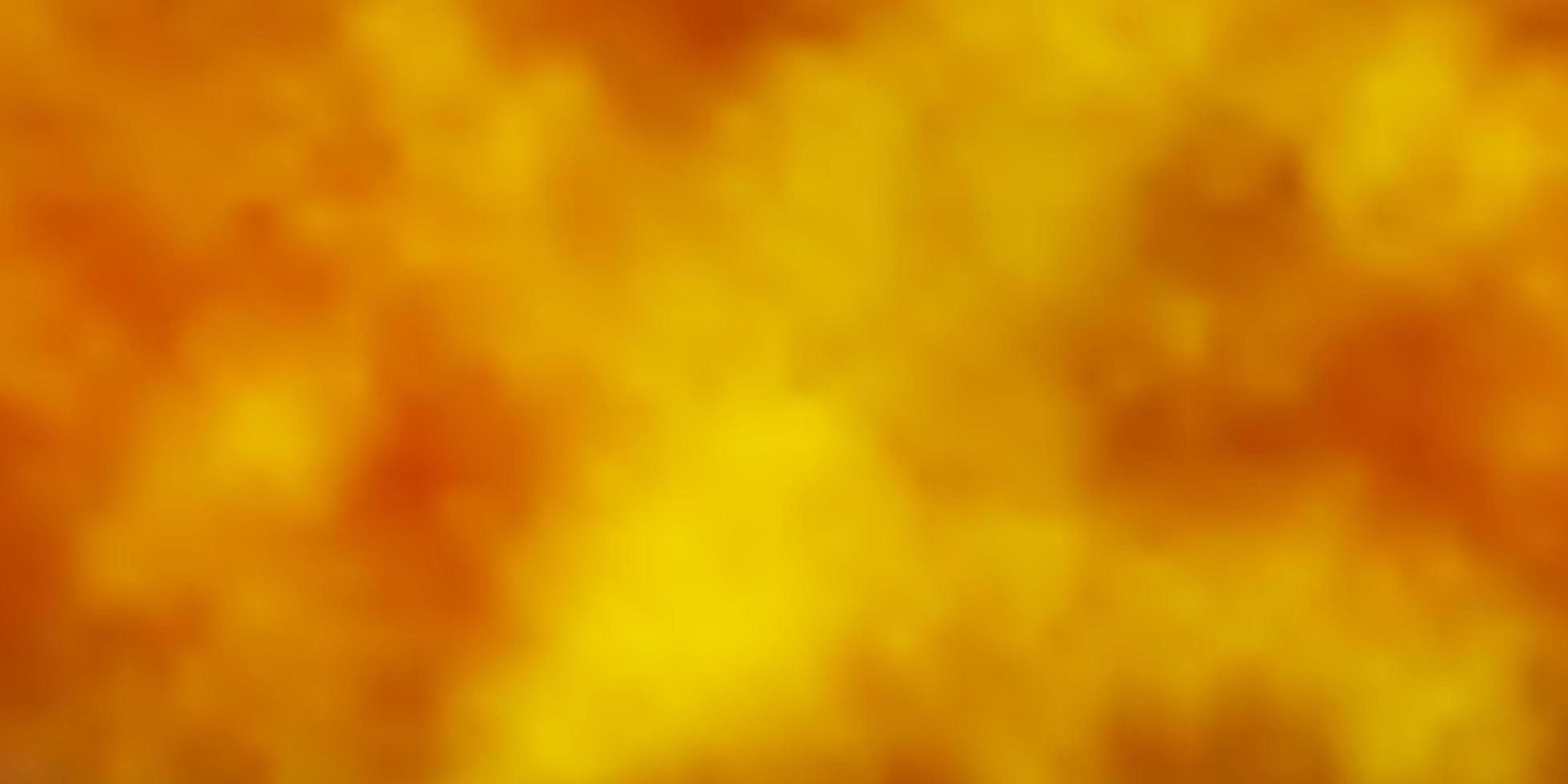 sfondo giallo scuro con nuvole. vettore