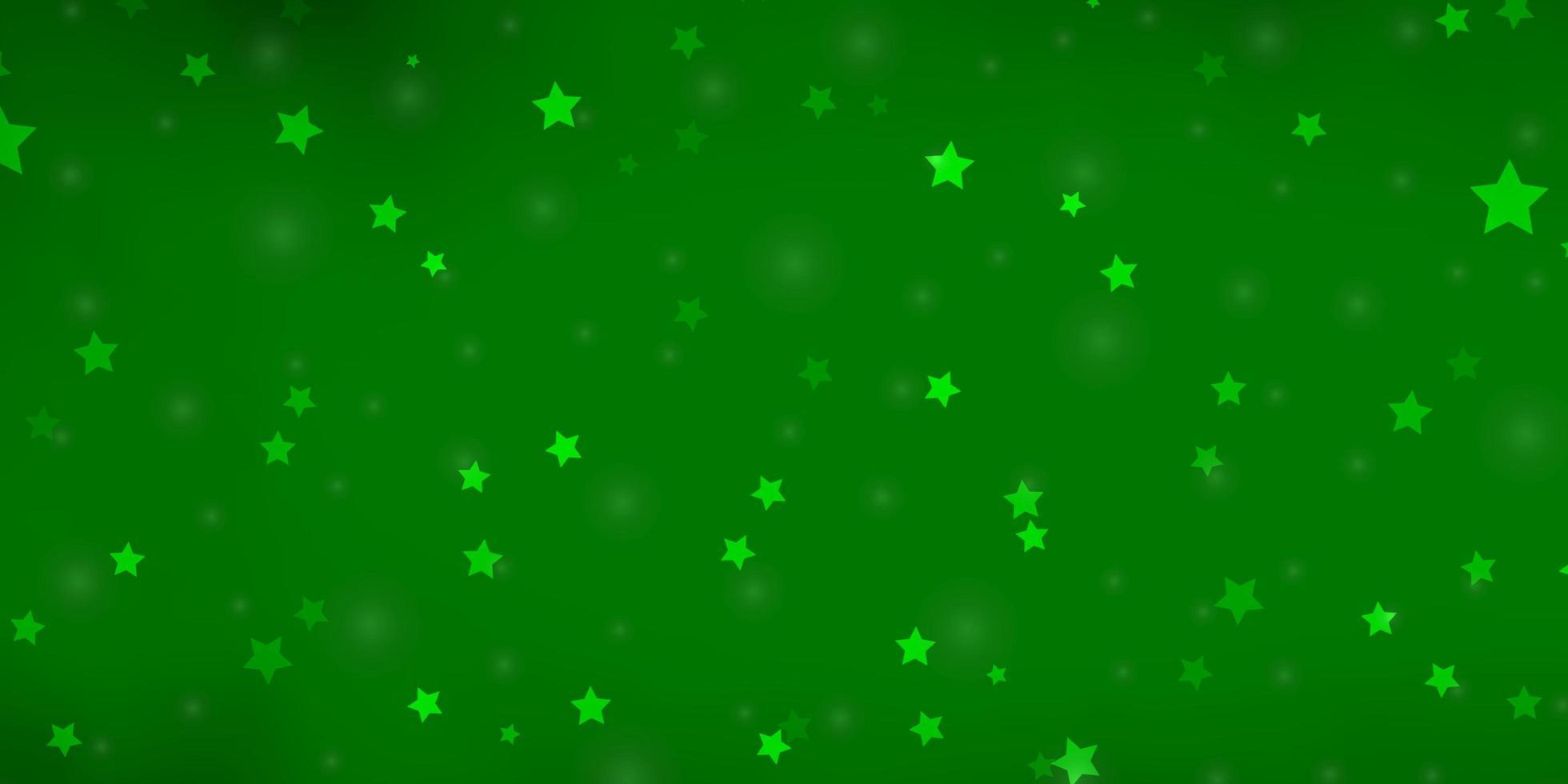 tessitura verde chiaro con bellissime stelle. vettore