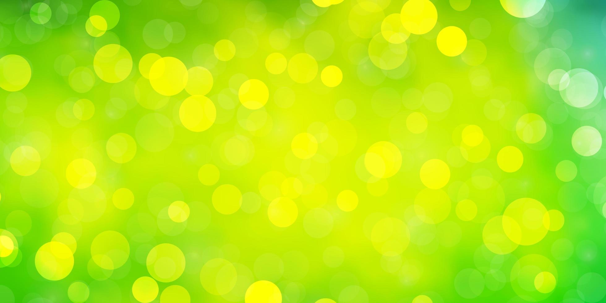 sfondo verde chiaro con cerchi. vettore