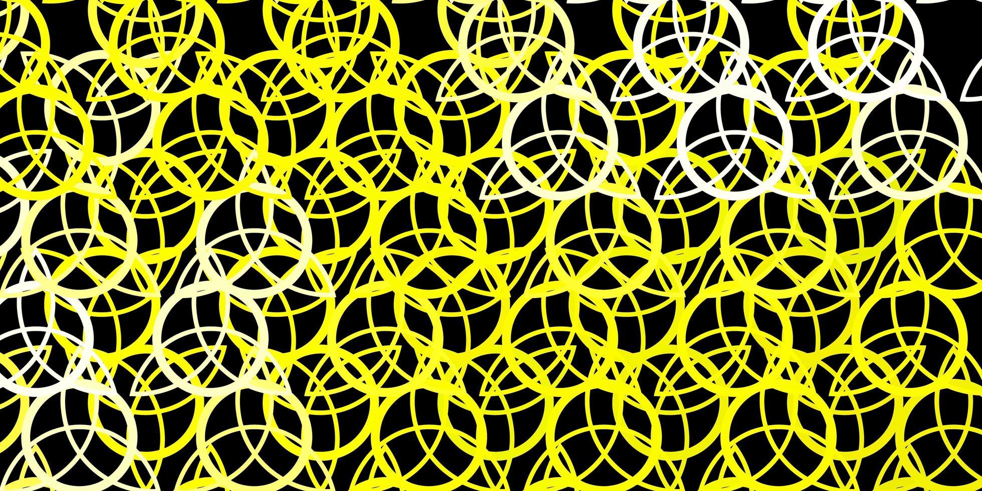 modello giallo scuro con segni esoterici. vettore