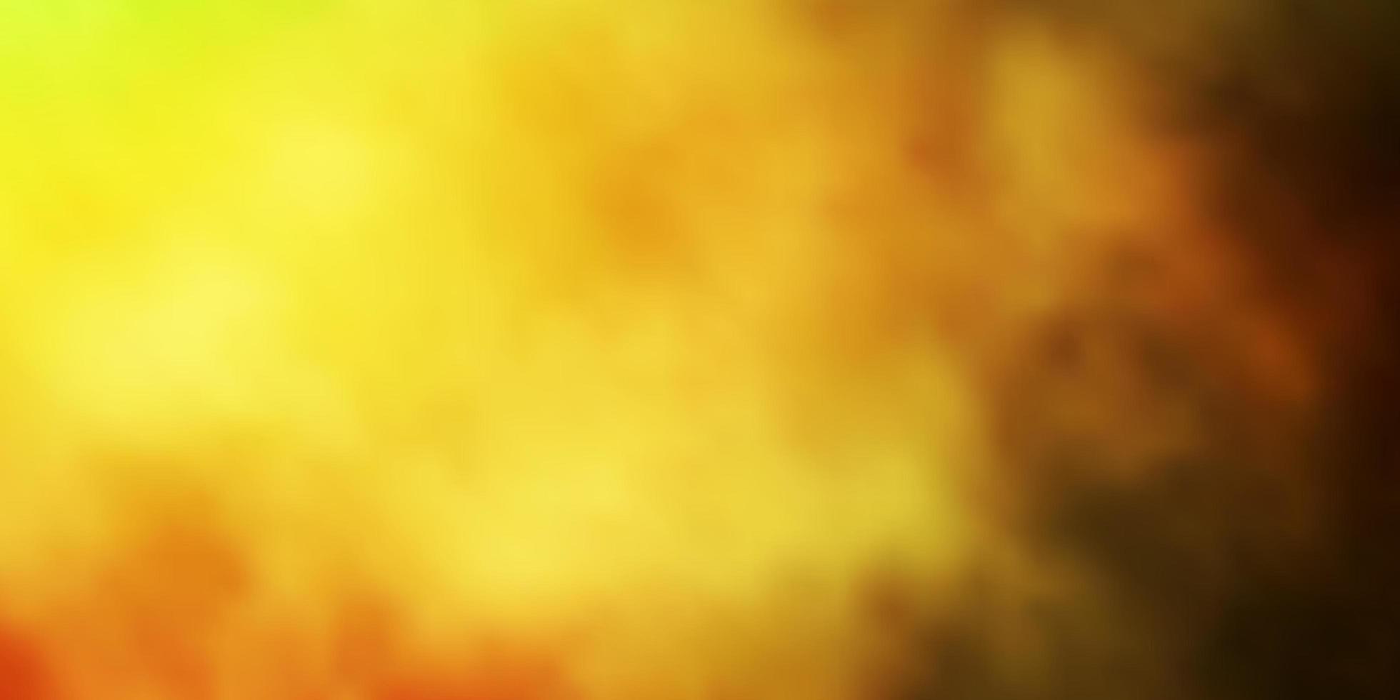 verde scuro, sfondo giallo con nuvole. vettore