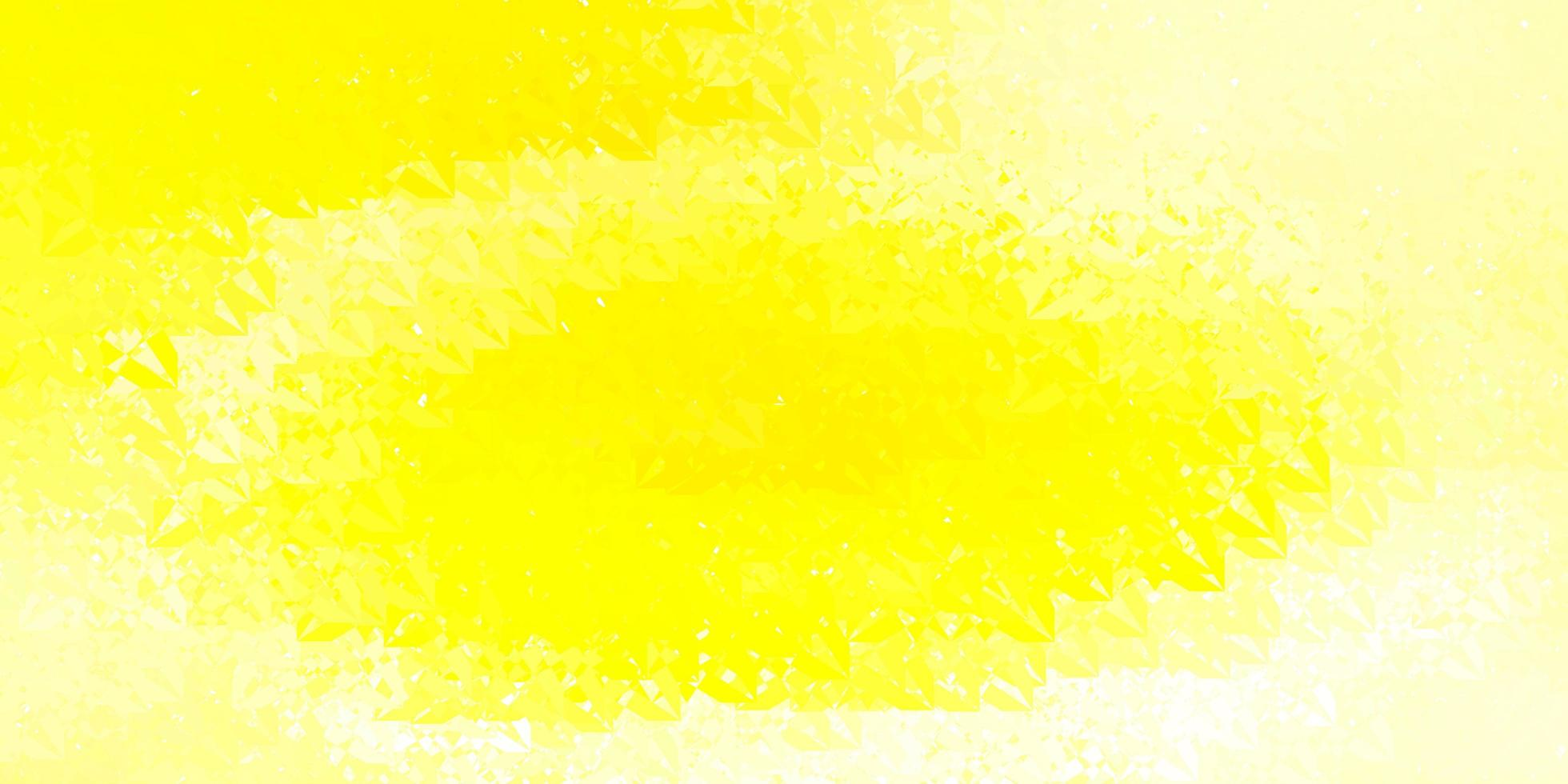 sfondo giallo scuro con triangoli. vettore