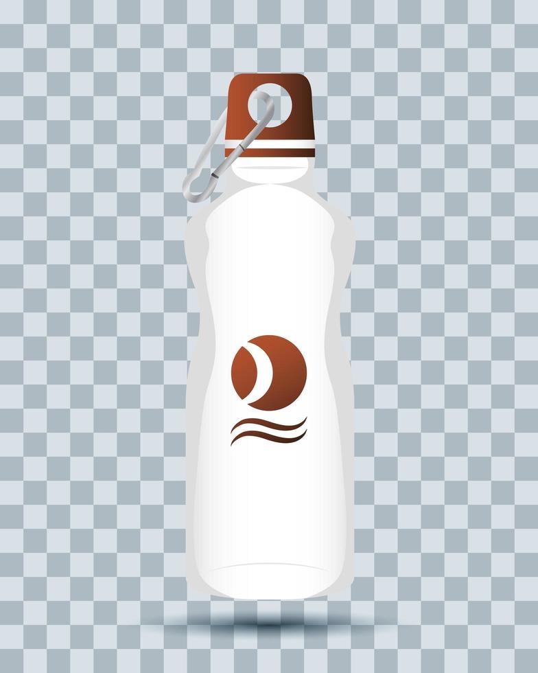 icona di mock-up branding bottiglia d'acqua vettore