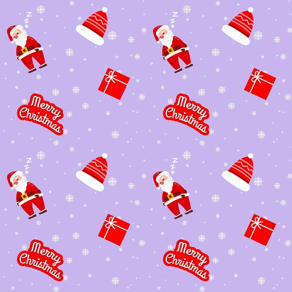 modello viola di Natale Babbo Natale per carta da imballaggio vettore